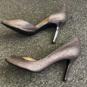 Marc Fisher Glitter Heels, Size 7.5
